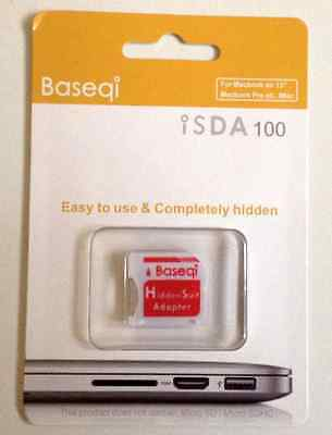 NEW Baseqi HiddenSuit MicroSD Adapter for Apple MacBook Air/Pro Red F/S Japan