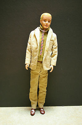 VINTAGE ORIGINAL 'Ken Doll' (1961) MCMLX BLONDE FLOCKED HAIR WITH SUIT 0750
