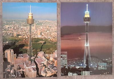 1970 - 1980 s x 2 vintage postcard Sydney Tower new south Wales Australia