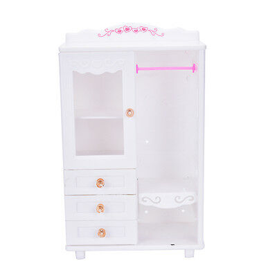 Plastic Furniture Living Room Wardrobe for Barbie Dollhouse Accessories Toy TSUS