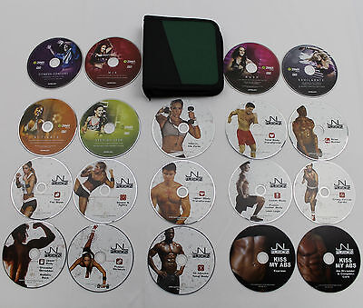 DVD LOT: Zumba Fitness Exhilarate + JNL Fusion Exclusive Collection + Case