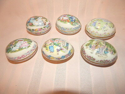 6 Lenox Easter Egg Trinket Boxes 1984 1985 1987 1990 1991 1992 Limited Editions
