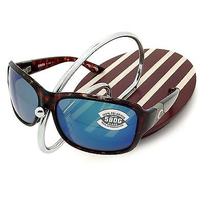 NEW Costa Del Mar INLET Tortoise / 580 Blue Mirror Glass 580G