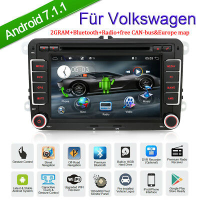 Android 7 Zoll AUTORADIO für VW Skoda T5 Seat Golf GPS MP3 DVD Android Dual USB