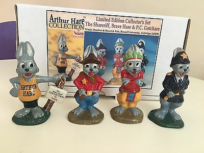 Wade Arthur Hare Collection Limited Edition Figurines Set Of 4