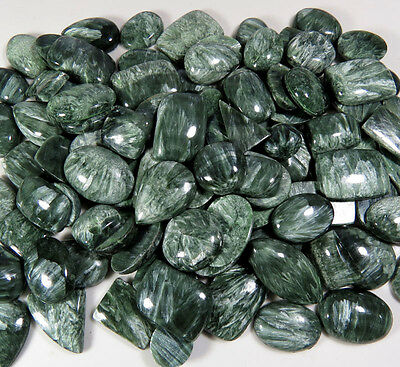 Approx 520.00CT Lot Natural Cabochon Seraphinite Gemstone Aura.gems