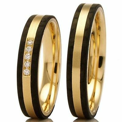 Trauringe Carbon / 375/- Apricotgold 88453-040