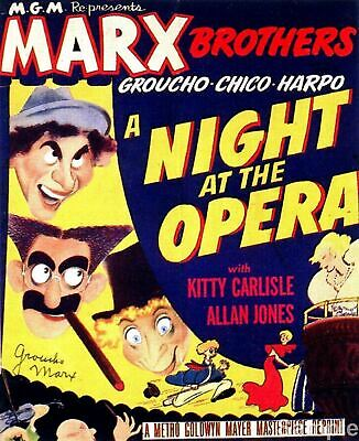 Marx Brothers A Night At The Opera Vintage Film Movie Poster Print Picture A4