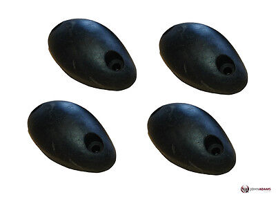 4 x Rubber Mouse Buffer Black Oval Trailer Truck Door Stop Tipper Horsebox Tail
