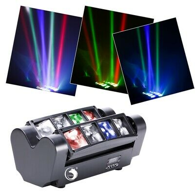 RGBW 8x10W LED Spider Beam Moving Head Stage Lighting DMX DJ Disco Party Light