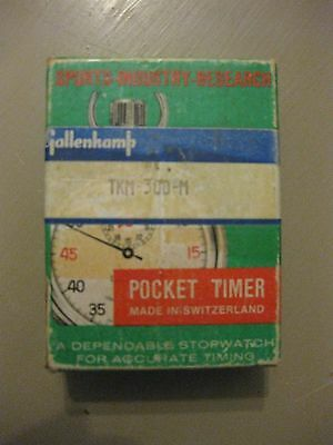 Vintage Gallenkamp Pocket Timer Stopwatch, FREE UK P&P