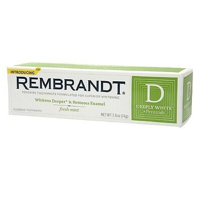 Rembrandt Deeply White + Whitening Toothpaste with Fluoride, Fresh Mint 2.6 oz