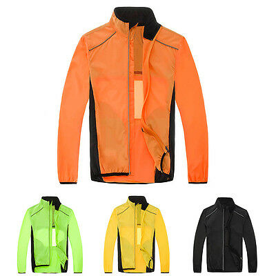 Cycling Bicycle Breathable Jacket Long Sleeve Wind Coat Reflective Outwear