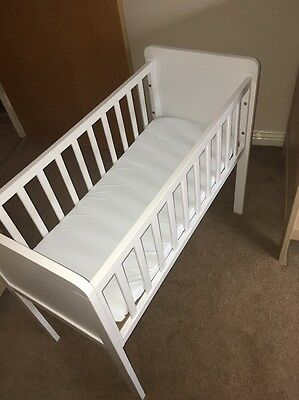 Mothercare White Crib With Mattress