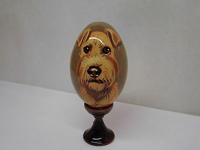 Russian eggs. High quality. Hand-painted  Lakeland Terrier
