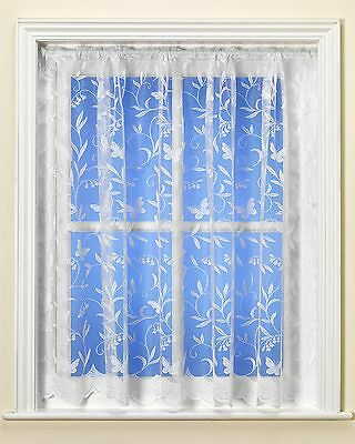 Best Selling Hawaii Butterfly White Net Curtain Premium Quality By The Metre