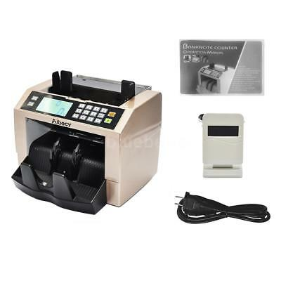 Money Bill Counter Multi-Currency Count Machine UV MG Counterfeit Detector Z3B6
