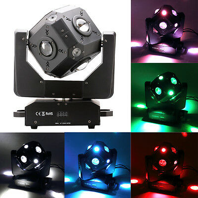 6 Side Cube 12*10W 4 in 1 RGBW DMX LED Moving Head Stage Lighting Effect Lights