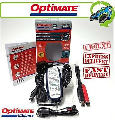 New Optimate Lithium 12.8V 0.8A Battery Charger for LiFePO4 Motorcycle Batteries