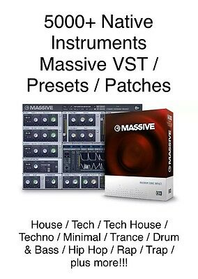 Over 5000 Presets / Patches for Massive VST/ Native Instruments / House Music