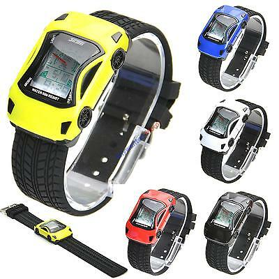 SKMEI Racing Sports Car Watch Multicolor Flash LED Digital NEW Gift Christmas