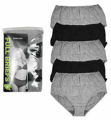 Womens PACK OF 5 Full Briefs Knickers Underwear Pants Plus Sizes 8 to 20