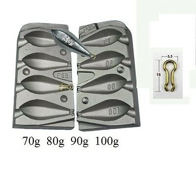 HEX BOAT 70,80,90,100g.Fishing Lead Mould/Carp Fishing Moulds