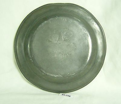 18th Century Pewter Dinner Plate with London and Townsend marks - BB596