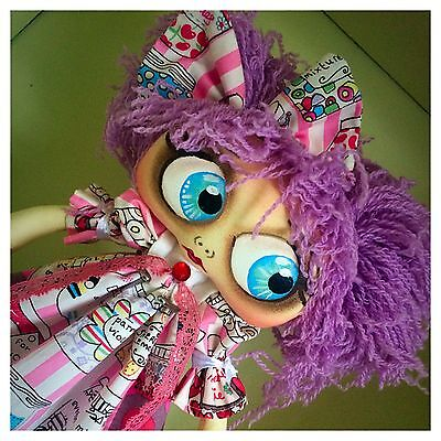Ooak Handmade Cloth Art Rag Doll 12inch ONE DAY SALE OFFERS