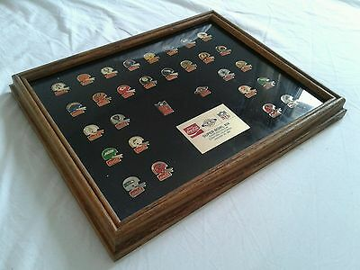 Coca Cola NFL Super Bowl Collection 1985 Framed Helmet Lapel Pins Badges Badge