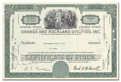 Orange and Rockland Utilities, Inc. Stock Certificate