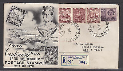 Fdc:  1950 Centenary Cover Registered