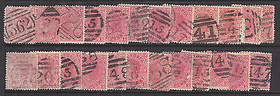 Postmarks: Small Group Of Barred Numerals... .