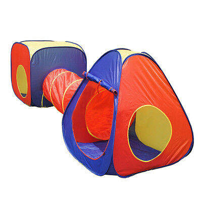 3pcs Childrens Kids Baby Play Tent And Tunnel Ball Pit Playhouse pop up