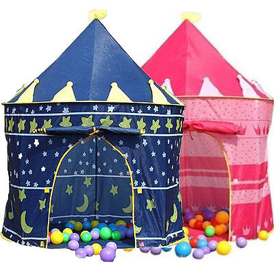 Children's Kids Castle Play Tent Playhouse with Carry Case, Wizard or Princess
