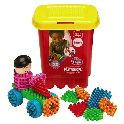 Playskool Clipo Bucket Contains 30 Pieces With Wheels & Head in good condition