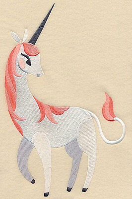 Embroidered Funky unicorn quilt block,sewing, fabric,cushion panel,fantasy,horse