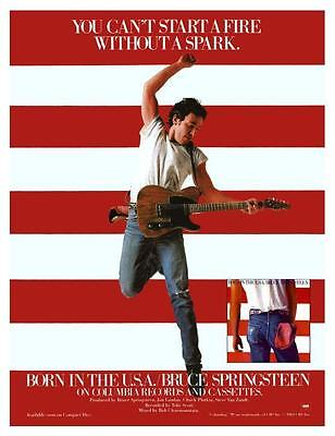 Bruce Springsteen *LARGE POSTER* Born In The USA - Promo ad