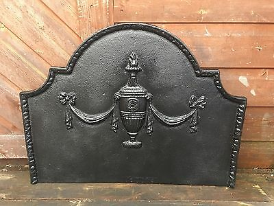 Ornate Cast Iron Backplate Fire Back For Fire Grate Open Fire Inglenook