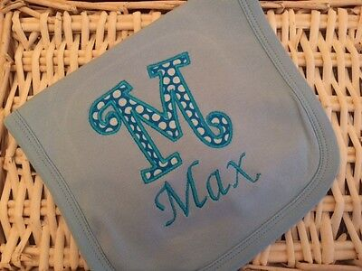 Personalised Any Name Appliqué Embroidered Newborn Baby Girl/Boy Bib