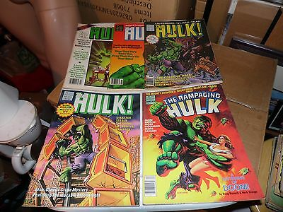Hulk Magazine lot of 5 books #8 #11 #12 #17 and #19  See Photos
