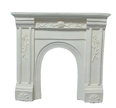 Dolls House White Resin Fire Surround : 12th scale Fireplace