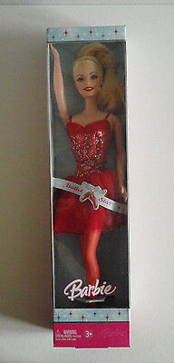 Barbie Red Ballet Star Doll,  Holiday Ballerina Tutu Shoes Dancer New in Box