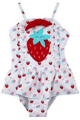 baby girls swimming costume-(strawberry)