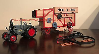 Schuco 1:32 Scale Lanz Bulldog With Thresher **brand New**