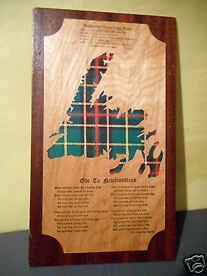 Newfoundland Tartan Vintage Wall Plaque,Ode To Newfoundland 13.5 by 8