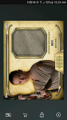 Topps Star Wars GOLD Rey Costume Relic *Digital Card*