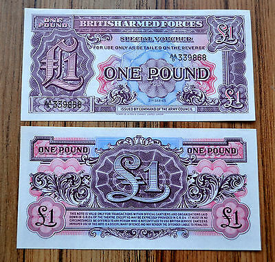 Great Britain (UK) 1 Pound (2nd. Series) 1948 Armed Forces, P-M22a  UNC BANKNOTE
