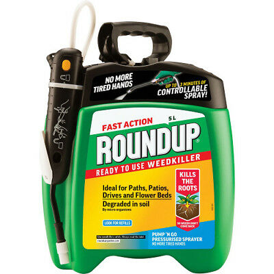 NEW Fast Action Roundup Weedkiller Pump n Go 5L