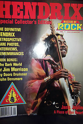 MASTERS OF ROCK -  JIMI HENDRIX Special Collector's Edition magazine Oct, 1990